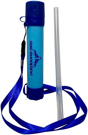 outdoors 365 survival straw portable water filter.
